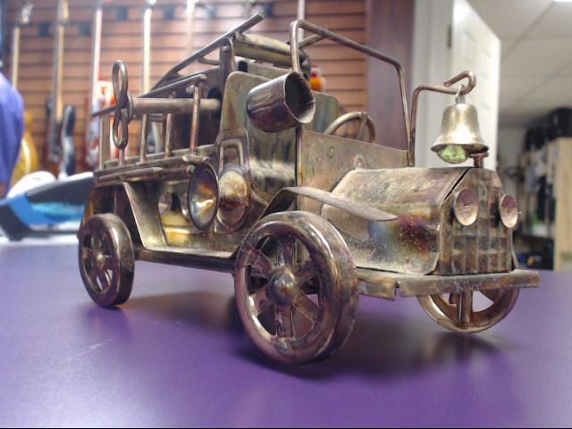 Vintage Berkeley Designs Copper Fire Truck Music Box