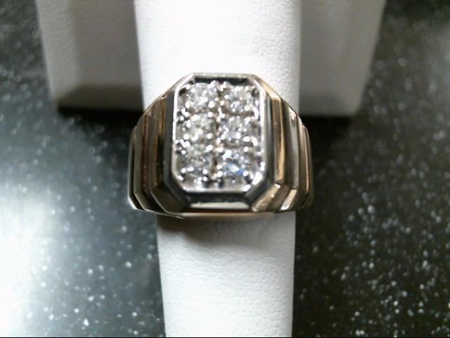 Gent's Diamond Fashion Ring 6 Diamonds .60 Carat T.W. 14K Yellow Gold 11.8g