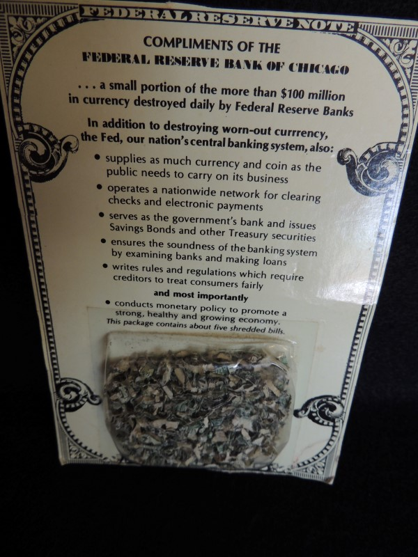 FEDERAL RESERVE CHICAGO DESTROYED CURRENCY