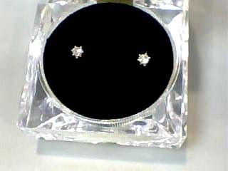 Gold-Diamond Earrings .20 CT. 14K White Gold 0.3dwt