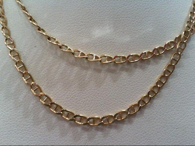 "21"" Gold Anchor Chain 14K Yellow Gold 6.2g"
