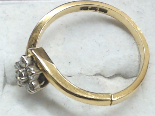 Lady's Diamond Cluster Ring 6 Diamonds .18 Carat T.W. 14K Yellow Gold 2.1g