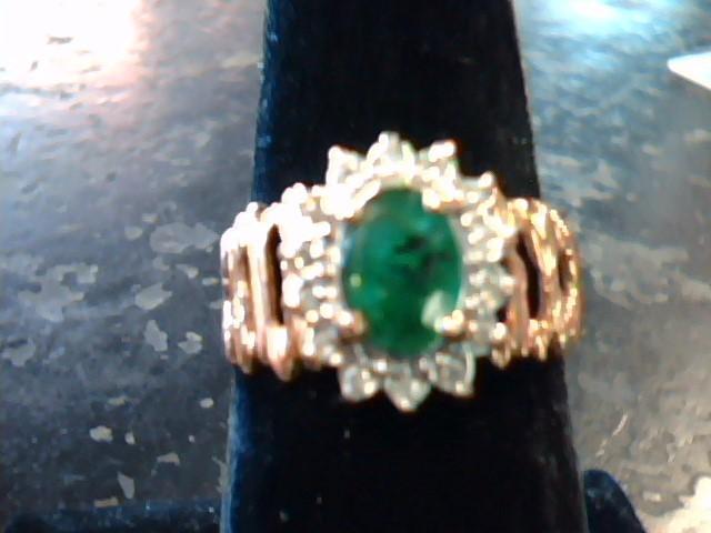 Lady's Diamond Cluster Ring 14 Diamonds .14 Carat T.W. 14K Yellow Gold 3dwt