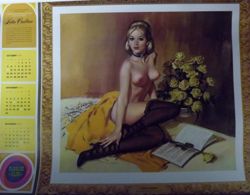 REN WICKS 1969 CALENDAR (HAROLD'S CLUB - RENO, NV)