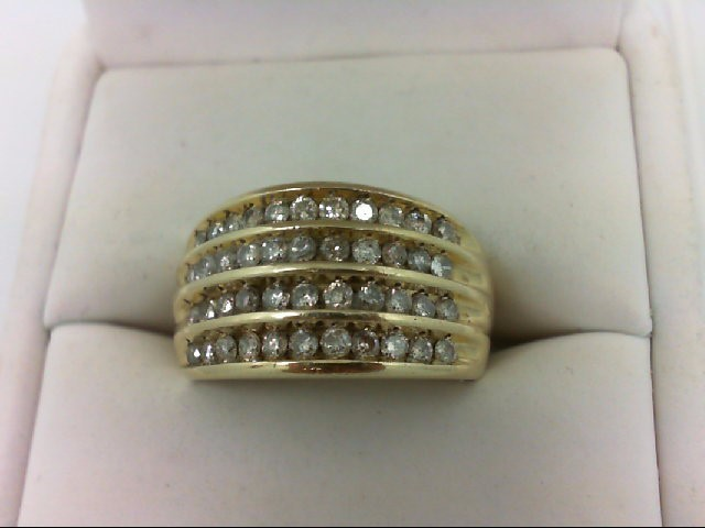 Lady's Diamond Wedding Band 44 Diamonds 0.98 Carat T.W. 10K Yellow Gold 6.1g