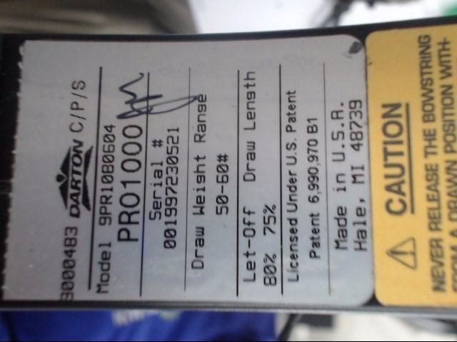DARTON ARCHERY PRO 1000 BLACK W/ HARD CASE