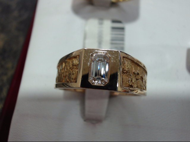 Lady's Diamond Solitaire Ring 0.01 CT. 14K Yellow Gold 8g