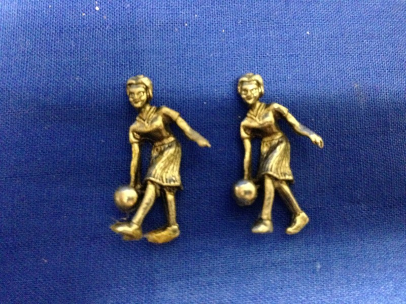 2 STERLING SILVER  FIGURINES