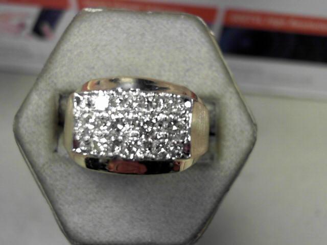 Gent's Diamond Cluster Ring 10 Diamonds .50 Carat T.W. 14K Yellow Gold 13.55g