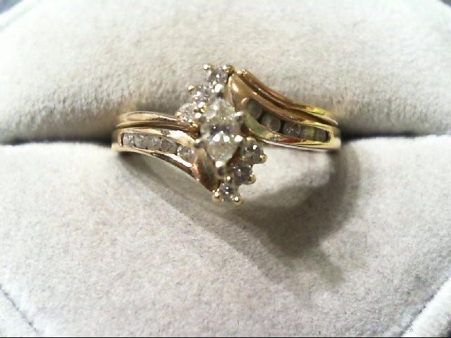 Lady's Diamond Wedding Set 17 Diamonds .52 Carat T.W. 14K Yellow Gold 4.6g