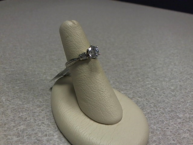 Semi Mount 10 Diamonds .80 Carat T.W. 14K White Gold 3.2g