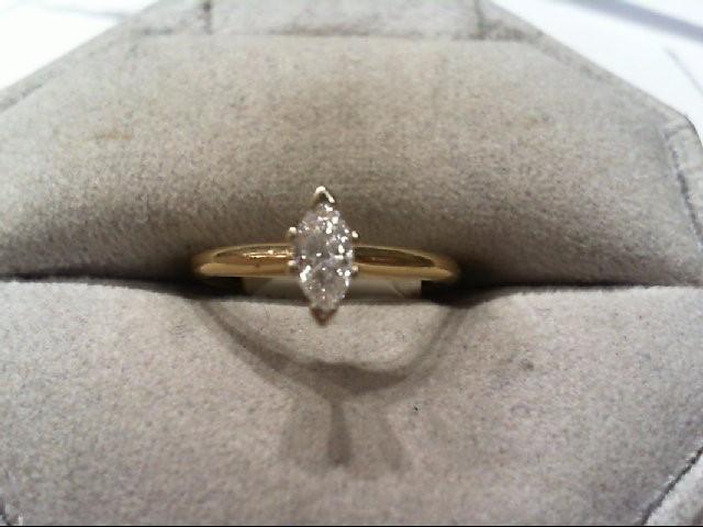Lady's Diamond Engagement Ring .29 CT. 14K Yellow Gold 1.6g