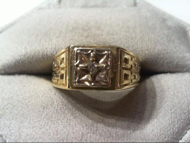 Gent's Diamond Fashion Ring .03 CT. 14K Yellow Gold 7g
