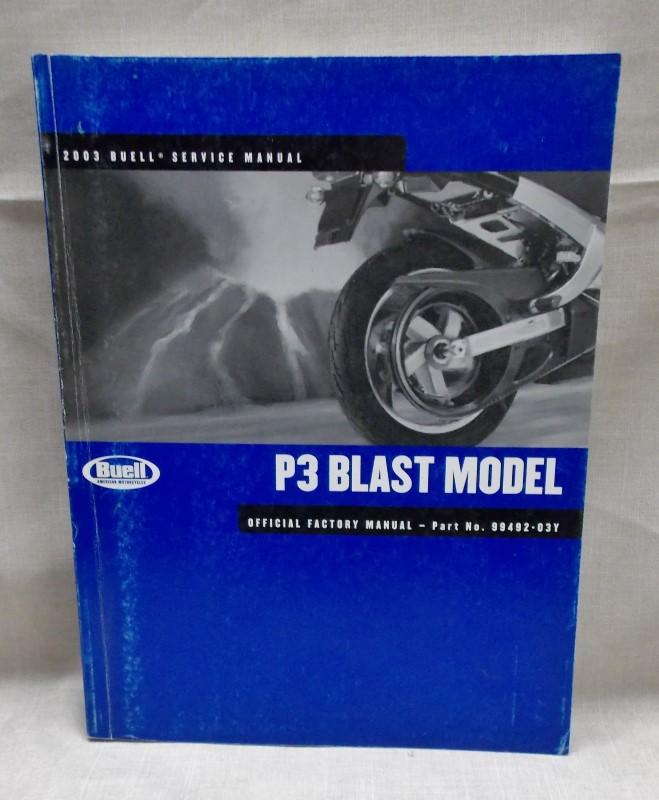 2004 BUELL SERVICE MANUAL- PS BLAST MODEL-99492-04Y