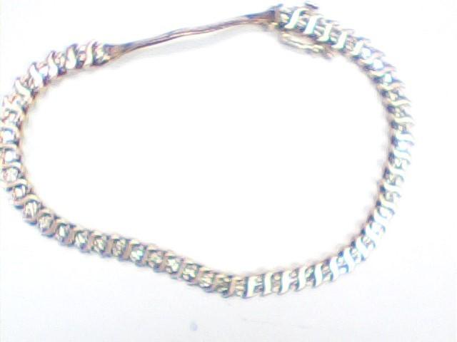 Gold-Diamond Bracelet 48 Diamonds 1.44 Carat T.W. 14K Yellow Gold 9.4dwt
