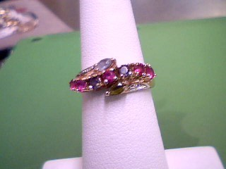 Pink Stone Lady's Stone Ring 14K Yellow Gold 2.4g