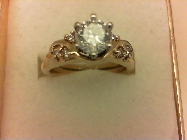 Lady's Diamond Wedding Set 7 Diamonds .71 Carat T.W. 14K Yellow Gold 5.7g