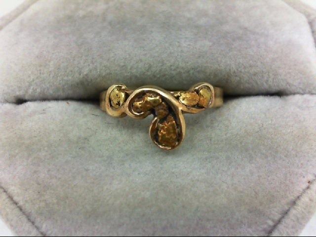 Lady's Gold Ring 14K Yellow Gold 3.4g Size:5.5
