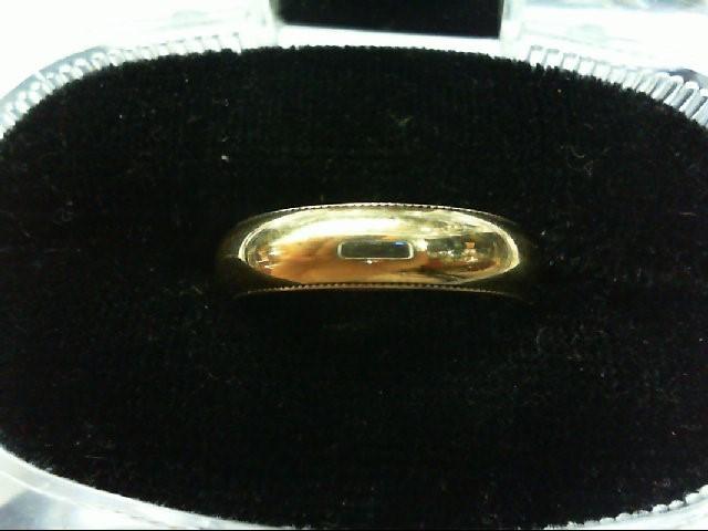 Lady's Gold Wedding Band 14K Yellow Gold 4.8g Size:6