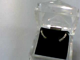 Gold-Diamond Earrings 12 Diamonds .12 Carat T.W. 14K Yellow Gold 0.8dwt
