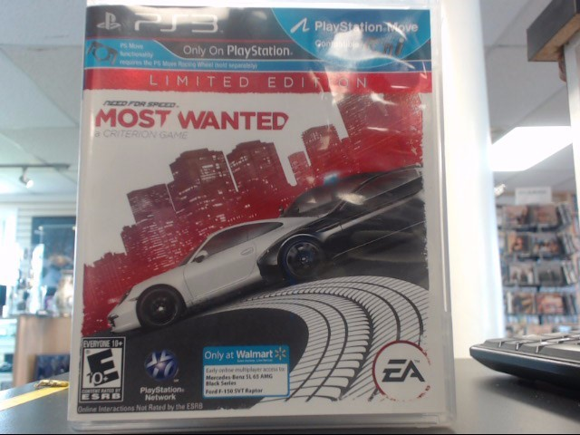 SONY Sony PlayStation 3 NEED FOR SPEED MOST WANTED PS3