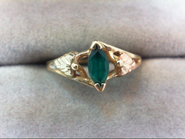 Lady's Gold Ring 10K Tri-color Gold 1.7g