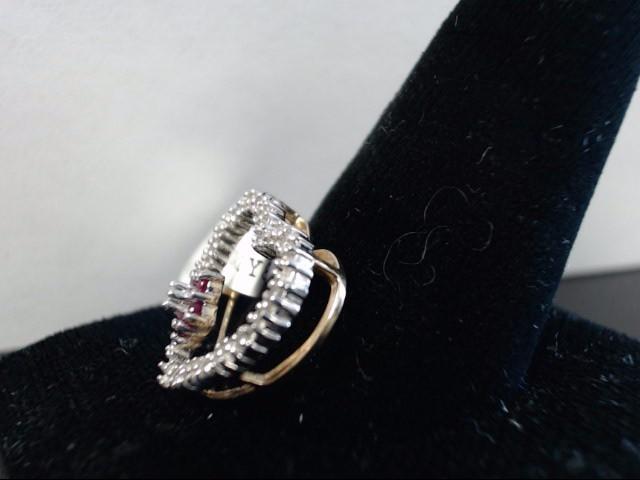Gold-Diamond & Stone Pendant 6 Diamonds 0.06 Carat T.W. 10K Yellow Gold 1.72g