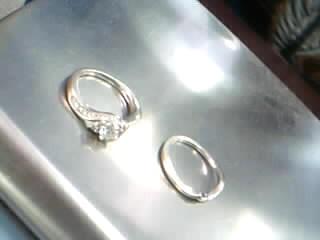 Lady's Diamond Solitaire Ring 21 Diamonds .70 Carat T.W. 14K White Gold 5.4g