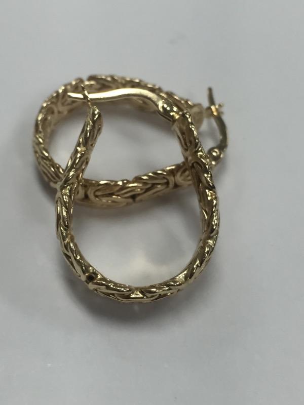 Gold Earrings 14K Yellow Gold 4.04g