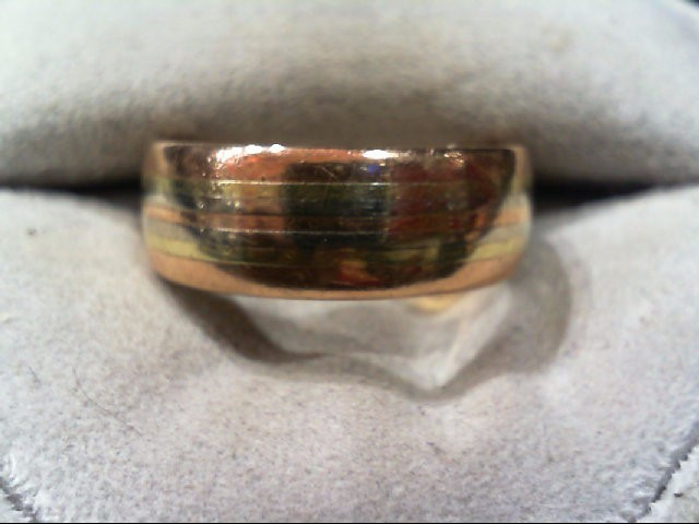 Lady's Gold Ring 14K Tri-color Gold 7.3g
