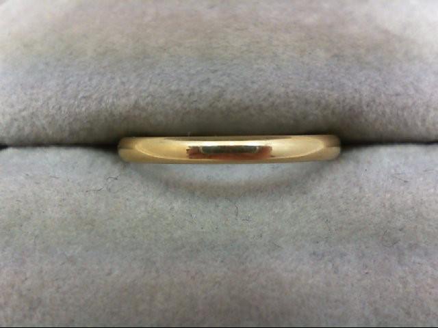 Lady's Gold Wedding Band 14K Yellow Gold 1.5g Size:6.5