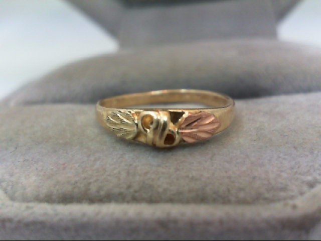 Child's Gold Ring 10K Tri-color Gold 0.8g