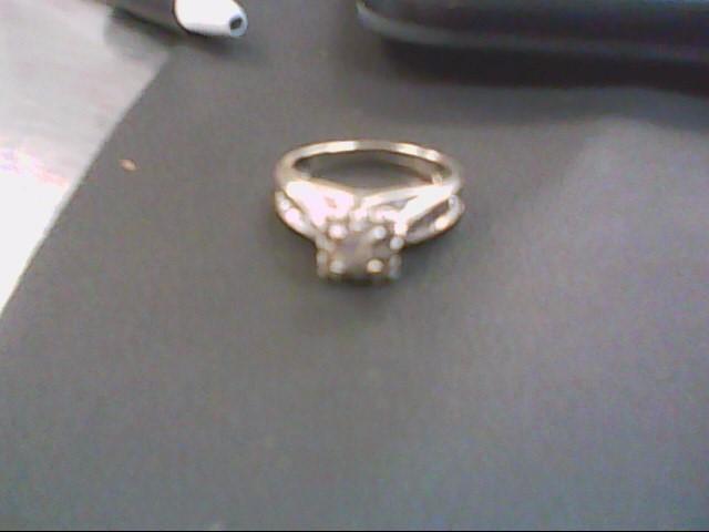 Lady's Diamond Engagement Ring 23 Diamonds .57 Carat T.W. 14K White Gold 3.8g