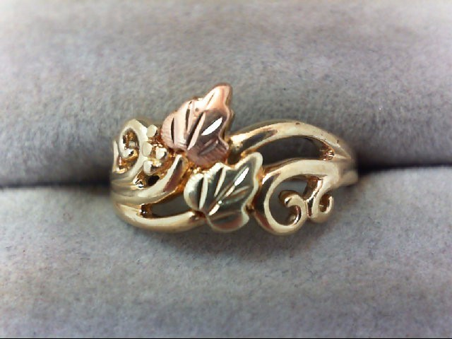 Lady's Gold Ring 10K Tri-color Gold 2.6g