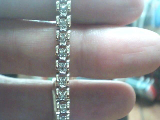 Gold-Diamond Bracelet 45 Diamonds .45 Carat T.W. 10K Yellow Gold 3.9dwt