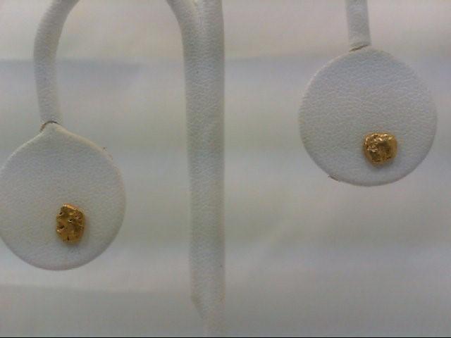 Gold Earrings 24K Yellow Gold 1g