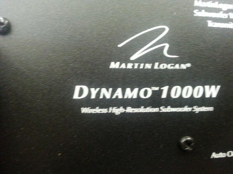 MARTIN LOGAN DYNAMO 1000 WIRELESS SUB