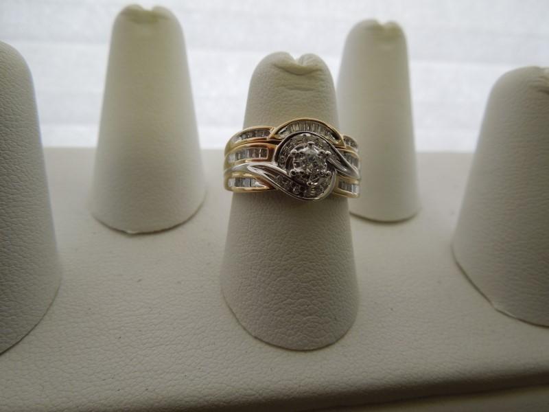 Lady's Diamond Engagement Ring 49 Diamonds .58 Carat T.W. 14K Yellow Gold 5.8g