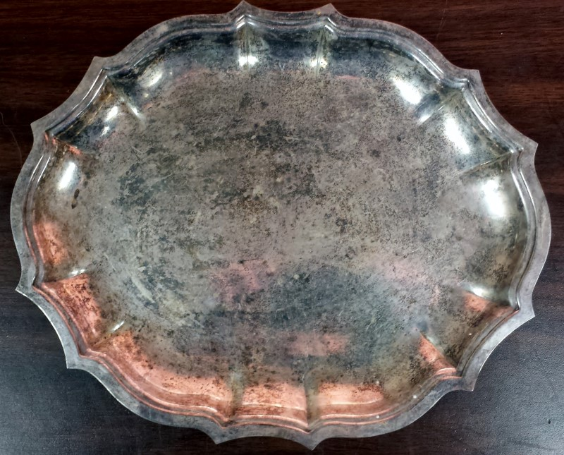 HOLLOWARE SILVER PLATE SERVING TRAY