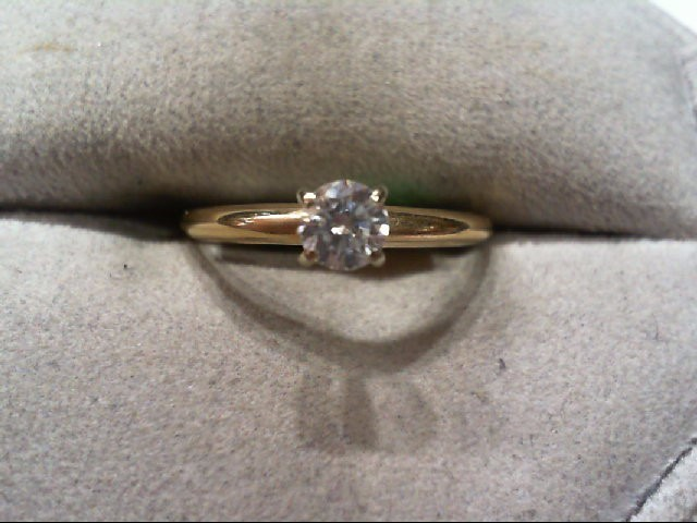 Lady's Diamond Engagement Ring .25 CT. 14K Yellow Gold 1.6g
