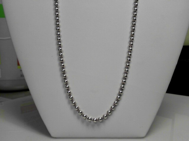 """22"""" Sterling Silver Toilet Chain Necklace 28.3g"""