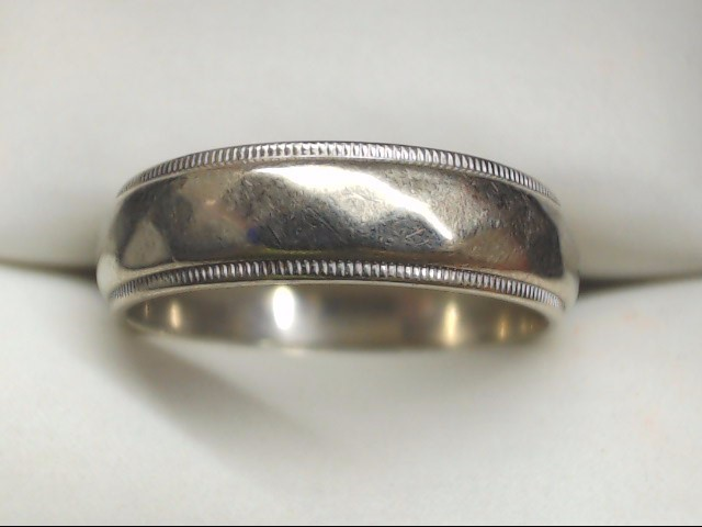 Gent's Gold Ring 14K White Gold 4.4g Size:8