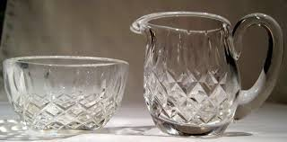 WATERFORD Glass/Pottery MILK AND SUGAR