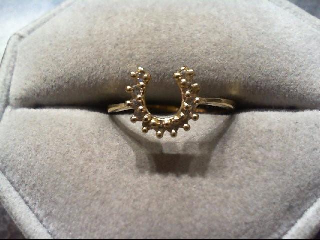 Lady's Diamond Fashion Ring 12 Diamonds .12 Carat T.W. 14K Yellow Gold 1.6g