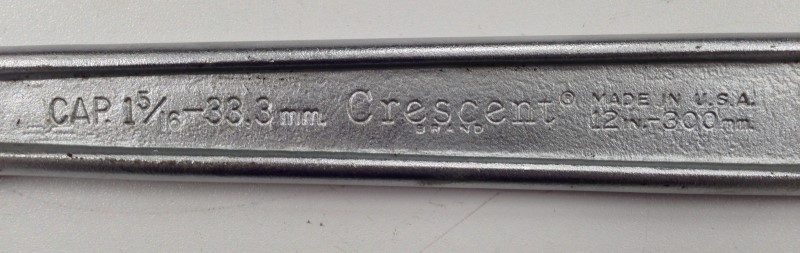 "CRESCENT 12"" ADJUSTABLE WRENCH"