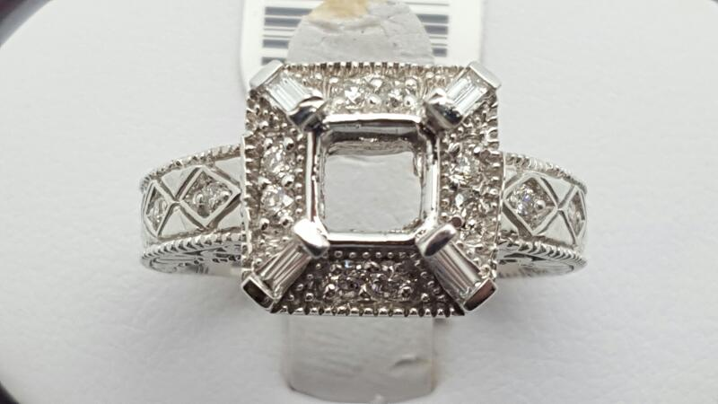 Lady's Diamond Fashion Ring 16 Diamonds .36 Carat T.W. 14K White Gold 7.1g