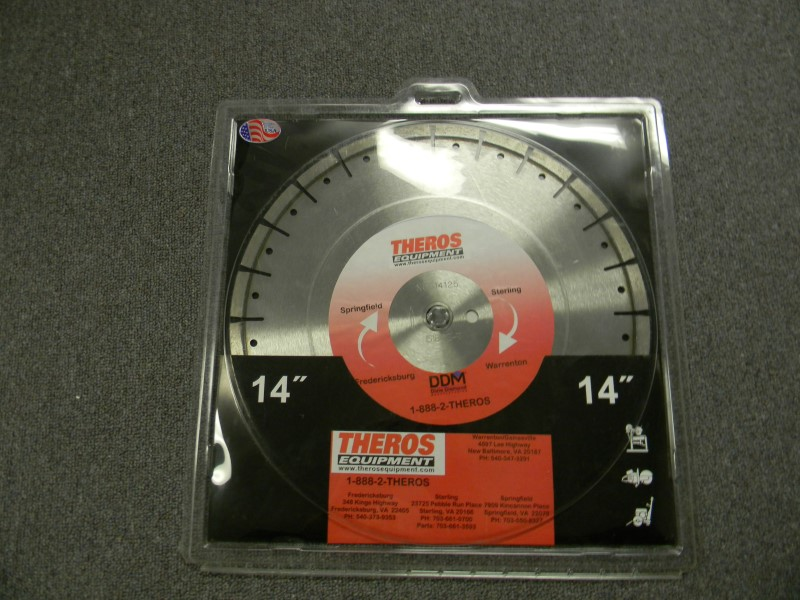 "Dixie Diamond Manufacturing - 14"" Diamond Blade - Cured Concrete"