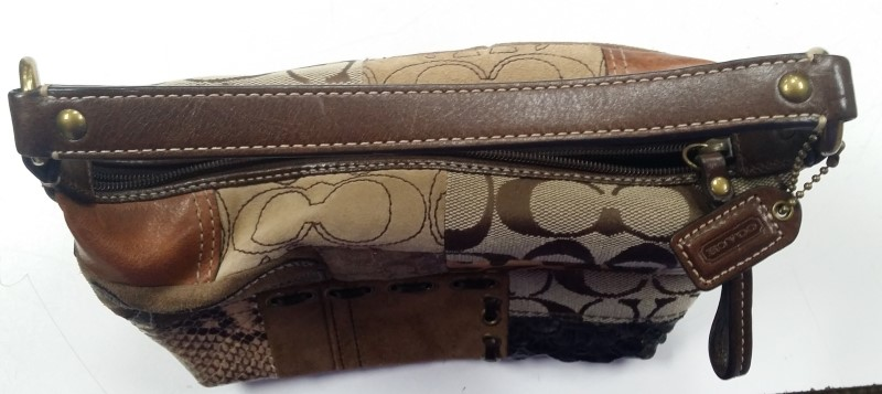 """COACH """"PATCHWORK"""" TOP HANDLE HANDBAG, GOODCONDITION, LIMITED WEAR. FREE SHIPPING"""