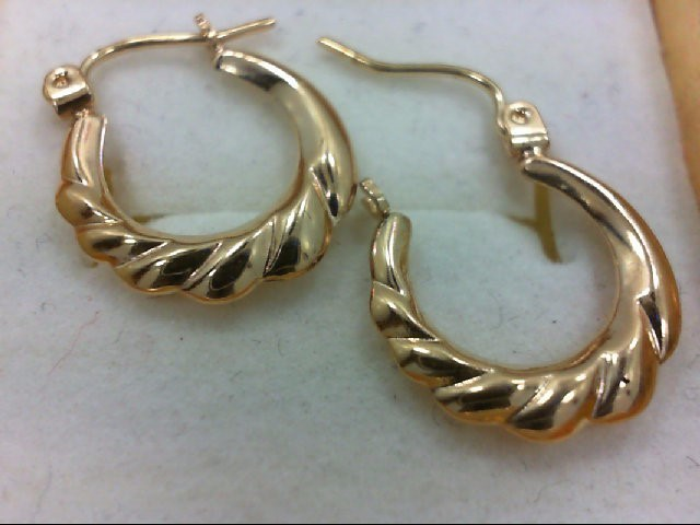 Gold Earrings 10K Yellow Gold 0.6g