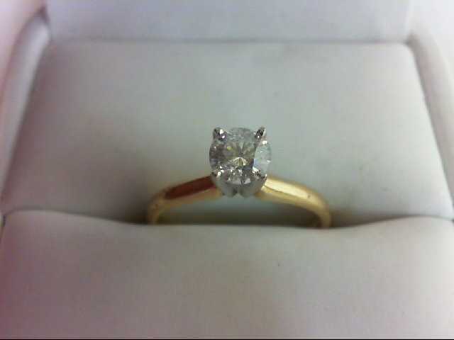 Lady's Diamond Solitaire Ring 0.4 CT. 14K Yellow Gold 2g